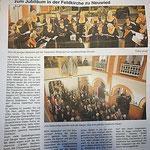 Konzertbericht in der Zeitung