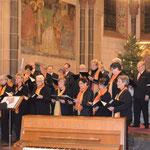 Der Schluss mit Orgel, Gemeinde und Überchor.