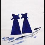 Acryl auf Künstlerpapier, ca. H 29 cm x B 21 cm