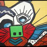 Acryl auf Leinwand, ca. H 80 cm x B 80 cm