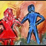 Acryl auf Leinwand, ca. H 40 cm x B 40 cm