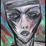 Acryl auf Leinwand, ca.  H 50 cm x B 40 cm