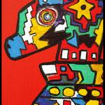"""Titel """"Ich"""", Acryl auf Leinwand, ca.  H  77 cm x B 62 cm"""
