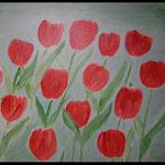 Acryl auf Leinwand, ca. H 80 cm x B 100 cm