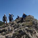 Pause am Klettersteig