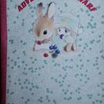ポーのノートです!結構ちゃんと作ってあります。うちのうさぎがちっこいころにそっくりでビックリ!