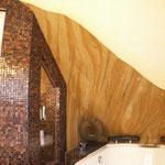 Die Tapete besteht aus natürlich gewachsenem Sandstein welcher auf einen Vliesträger aufgebracht ist