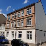 Gründerzeitfassade nach historischer Farbgebung in Hamburg Altona.