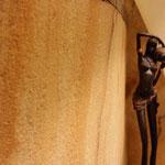 Textur der Sandsteinoberfläche.