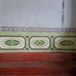 Erstellung einer Musterachse der historischen Malerei in der Mitte des Raumes.