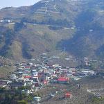 Village agricole dans le centre de l'ile