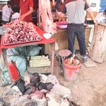 Boucherie au marché de Kachgar