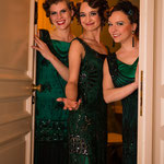 """Welcome der Gastgeberinnen - Inszenierung der """"Vintage Suite"""" für die Aareal Bank im März 2015 (Fotos Heinrich von Schimmer)"""
