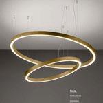 Light4 Pendelleuchten Ring gold brushed