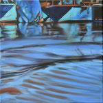 Wasserstueck3, Öl auf LW, 2018, 40 x 40