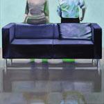 Sofa 4hoch2 #8, Öl auf Leinwand, 2014, 110 x 110