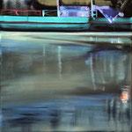 Wasserstueck10, Öl auf LW, 2017, 30 x 30