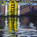 Hafenstueck, Öl auf LW, 2014, 40 x 40
