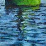 Wasserstueck18, Öl auf LW, 2018, 40 x 40