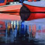 Wasserstueck5, Öl auf LW, 2017, 30 x 30
