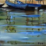 Wasserstueck7, Öl auf LW, 2017, 30 x 30    (saled)