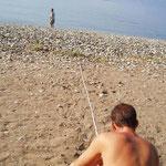 Vermessen der Distanz vom Nest zum Meer