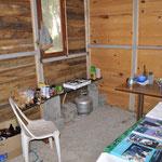 Unsere Campküche mit Gasherd