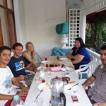 dinner with our turkish colleagues at their apartment