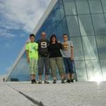 Auf dem Dach des Opernhauses