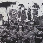 雨の日のおくりもの/240cm×320cm/2010