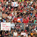 11.150 Zuschauer in dem ausverkauften und vergrößerten Stadion in Memmingen