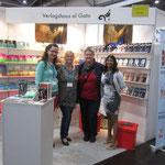 Verlagskolleginnen: Claudi Feldhaus, Andrea el Gato (Verlegerin), Jordis und Lucie Müller