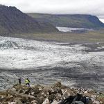 Gletscherzunge im Süden Islands