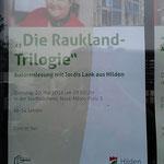 Lesungsankündigung der Stadtbüchrei - Jordis in rot (wie immer :D)