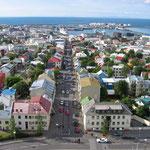 Reykjavík von oben - die nördlichste Hauptstadt der Welt.