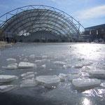 Die Glashalle der Leipziger Buchmesse (und ja, kalt war´s auch ;))