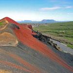 Vulkansand im Norden der Insel