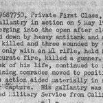 "Eine der ""General Orders"" (Nr. 578) der 90th US Infantry Division."