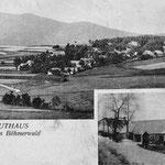 Ansichtskarte von Mauthaus mit einer Häuserreihe