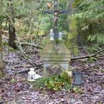 Das Kreuz am Standort der Kapelle.
