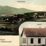 Dieselbe Perspektive (von Seeg-Pila aus) auf Mauthaus, als es noch lebte.