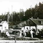 Das Sägewerk Mack bot den Bewohnern Brot und Arbeit.