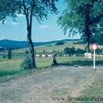 Hier endete damals die Welt: Schlagbaum Höll-Haselbach (Lísková).