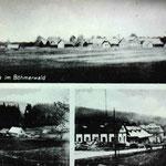 Oberdorf mit deutscher Schule, Blick aufs untere Dorf, Sägewerk Mack (Hauptstraße)