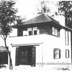 Die schmucke Villa Dr. Pirk (Nr. 70, links vor der großen Kurve)
