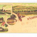 """Ansichtskarte """"Gruß aus Wassersuppen""""."""