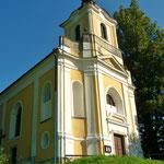 Das Schmuckstück des Ortes: St. Johannes Nepomuk Wassersuppen.