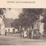Haselbach, Dorfstraße Richtung Böhmen.