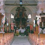 Die Kirche von Wassersuppen in den 1990er Jahren.