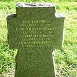 Kriegsgräberstätte: Das zweite Grab der bei Alt-Brunst gefallenen Wehrmachtsoldaten.